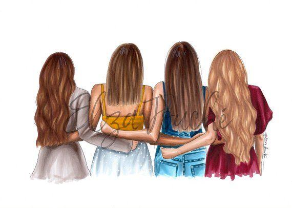 4 Best Friends Best Friends Bestie Sister Best Friend Gift