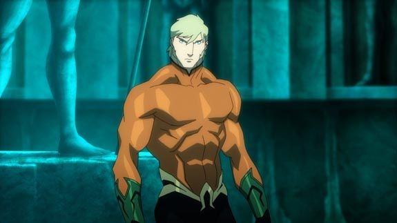 Justice League: Throne of Atlantis - we now have our first look at the main character in the movie - Aquaman. Aquaman will be voiced by actor Matt Lanter in the film!