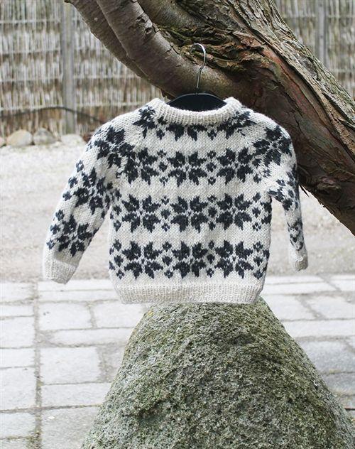 baby strik sweater med stjerner strikkekit