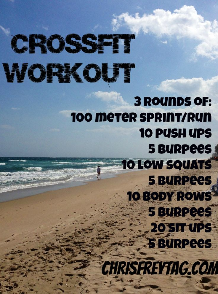 Do a Crossfit style workout on the beach or anywhere!