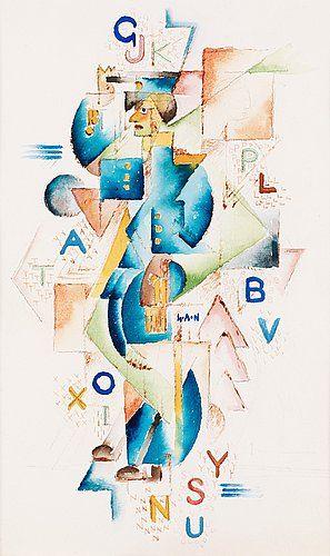GÖSTA ADRIAN-NILSSON, Man in uniform. Signed G.A-N. Executed circa 1917. Watercolour 29.5 x 18 c.... - Modern Autumn Sale, Stockholm 575 – B...