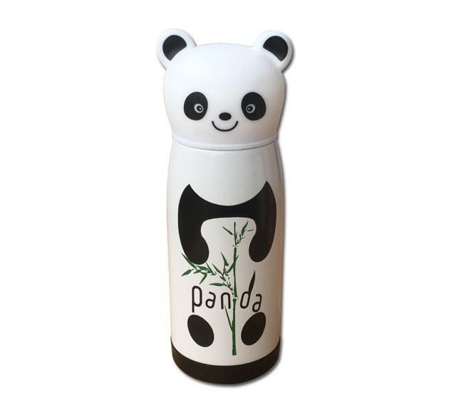350ml Cartoon thermos cup stainless steel vacuum flask Insulated Tumbler thermo mug thermocup panda shaped thermal bottle