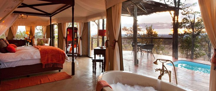 Perched on the banks of the Masuwe River, the spray of Victoria Falls in the distance, Elephant Camp is a majestic backdrop to the ultimate…