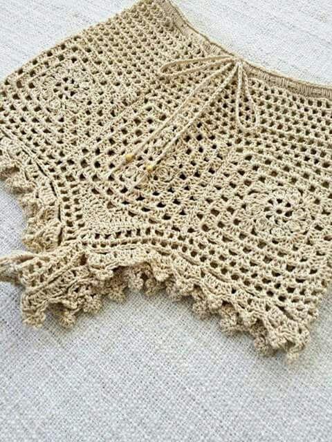 Shorts y faldas de crochet