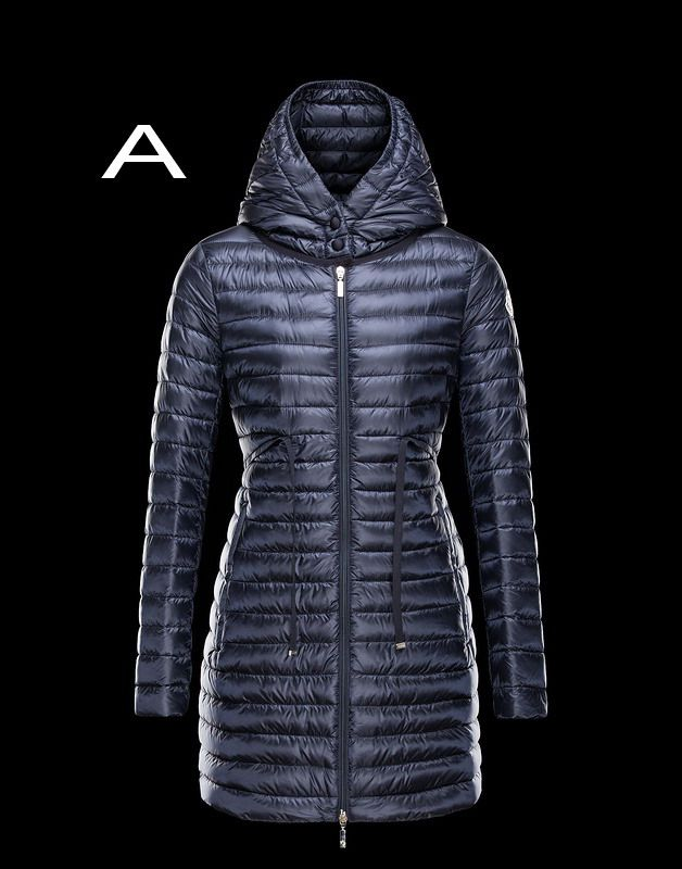 fd251d1fbc43 Moncler Barbel Women Lightweight Hooded Down Parka Outerwear Navy On ...