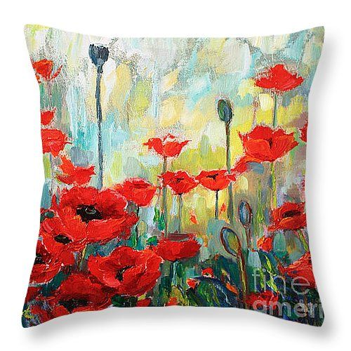 poppy throw #pillow! #homedecor #interior #poppies
