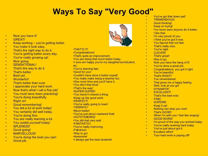 100 ways to say very good pdf