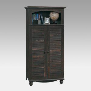 273 sauder arbor gate laptop armoire in coach cherry bed. Black Bedroom Furniture Sets. Home Design Ideas