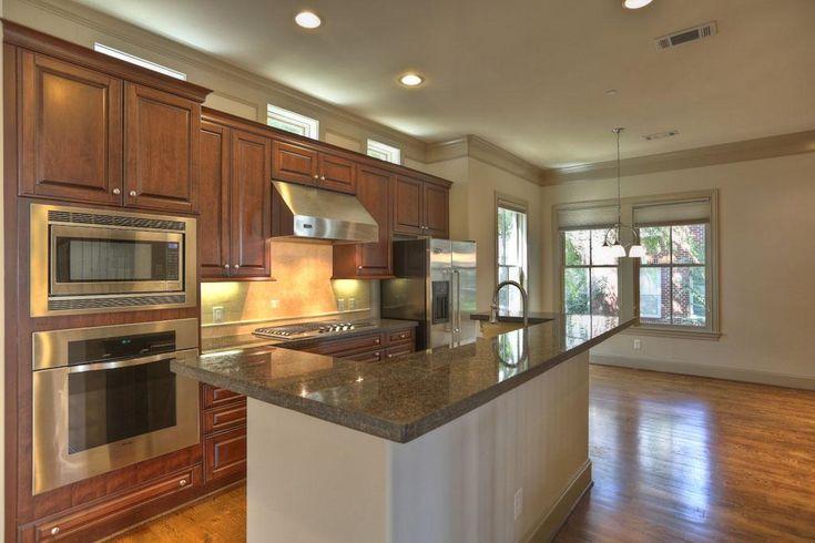 small transom windows above kitchen cabinets