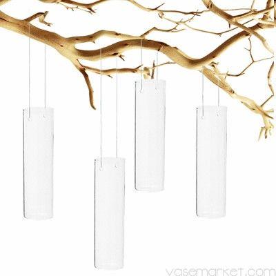"""Hanging Glass Tube Cylinder. H-7"""" D-2"""" (Pack of 6 pcs) - Glass Vases - Glass Vases Wholesale   Vase Market"""