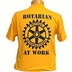 Russell-Hampton Co. Rotary Club Supplies: Gold Rotarian at Work T-Shirt