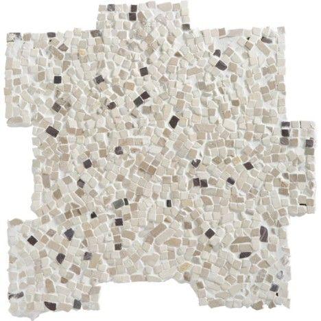 mosaque romaine blanc et prune 1795 - Salle De Bain Beige Et Prune
