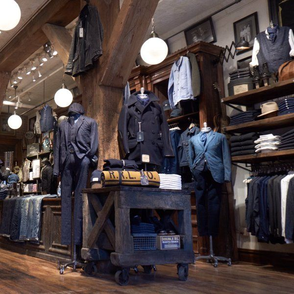 """RALPH LAUREN,Williamsburg, Brooklyn,New York, """"RRL store has a collection hand-curated for this location"""", pinned by Ton van der Veer"""