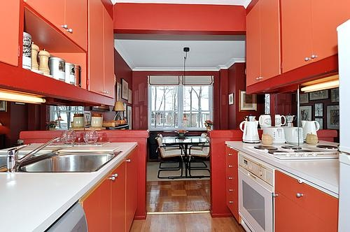 30 Elm Avenue #Rosedale #Toronto Apartment Kitchen Overlooks Dining Room Victoria Boscariol Chestnut Park Real Estate