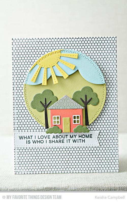Keisha Campbell | what i love about my home | MFT's January card kit No Place Like Home-Reveal