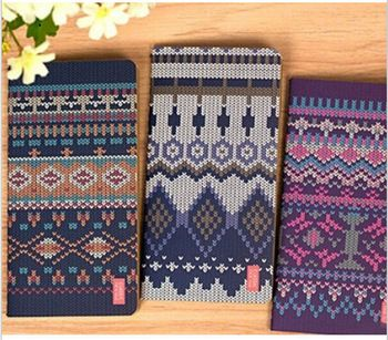 4pcs / lot Vintage Sweet Sweater series Kraft Paper notebook/Retro Diary No.0161