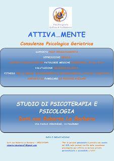 Dott.ssa Roberta La Barbera: ATTIVA...MENTE Consulenza Psicologica Geriatrica