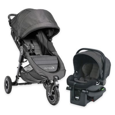 Baby Jogger® City Mini GT Travel System in Charcoal - buybuyBaby.com