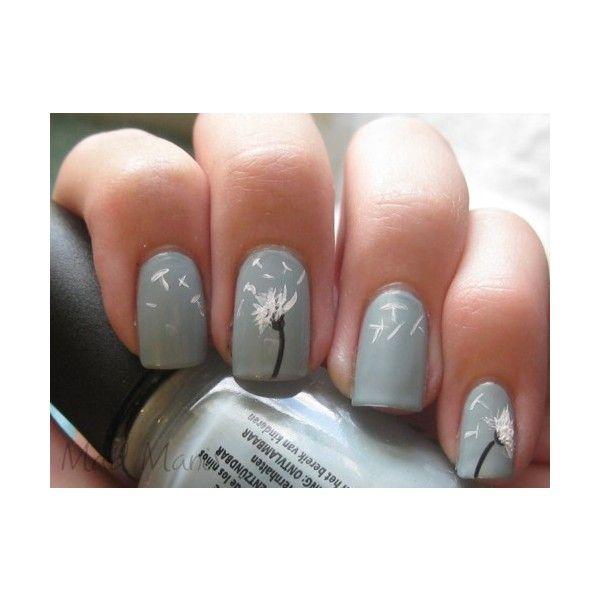 nail art: Idea, Awesome Nails, Cute Nails, Nailart, Dandylion Nails, Nail Design, Dandelion Nails, Flower