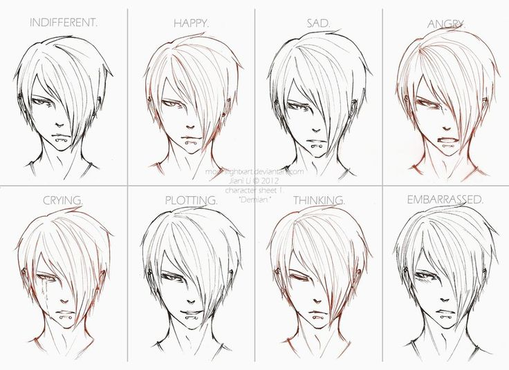 Hot! drawing anime facial expressions love