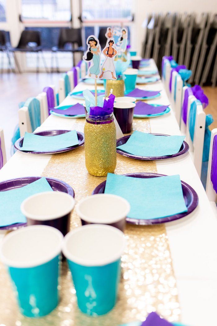 Guest Table From An Aladdin Birthday Party On Karas Ideas