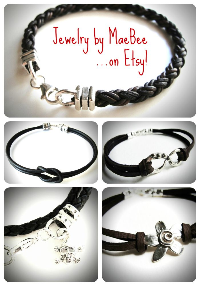 Sterling and Leather Bracelets...yum!