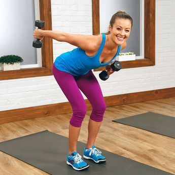 10-Minute Workout to Tighten the Arm Jiggle: Get the gorgeous chiseled arms you've always dreamed of with this simple 10-minute toning workout. All you need is a set of dumbbells, and you're ready to get to work.