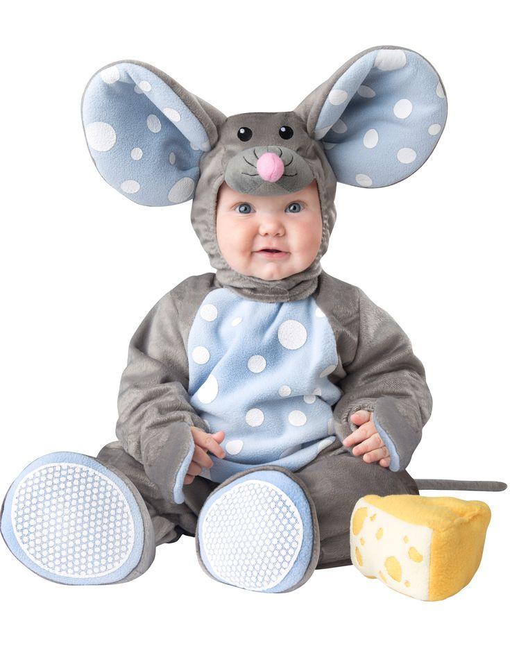 Costume topolino grigio per neonato/bambino - Lusso : Questo costume da topolino per neonato/bambino si compone di una tutina, di due pantofole, di un copricapo e di un pezzo di formaggio in mousse.La tutina é grigia e fatta di un tessuto soffice...