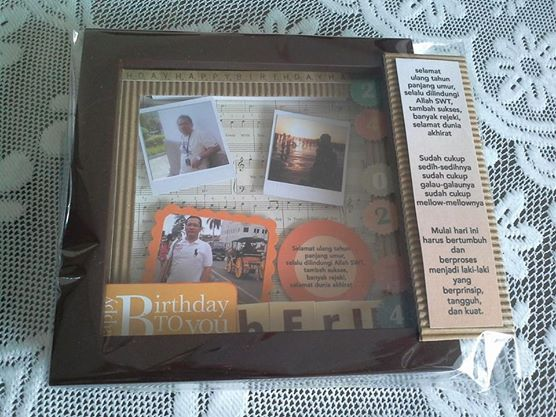 belongs to Nila 15x15cm birthday scrapbook