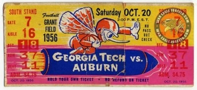 1956 Georgia Tech vs Auburn ticket