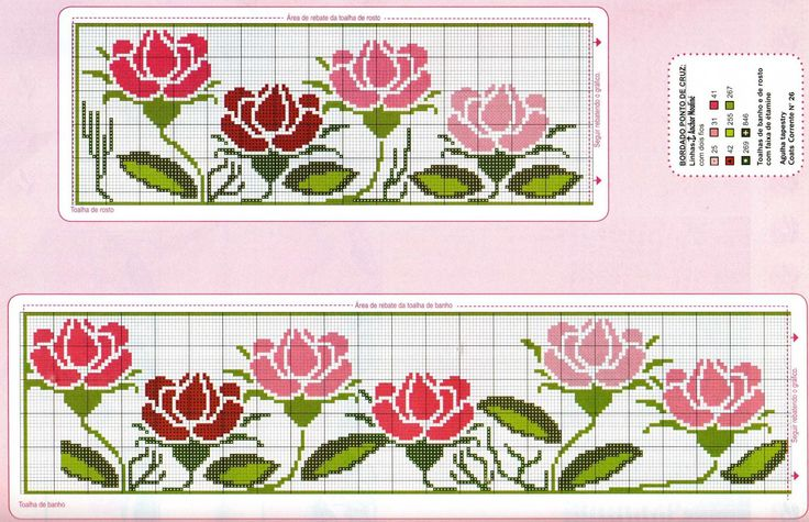 FREE flower cross stitch patterns.