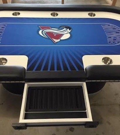 Colorado Avalanche Hockey Custom Poker Table Sports