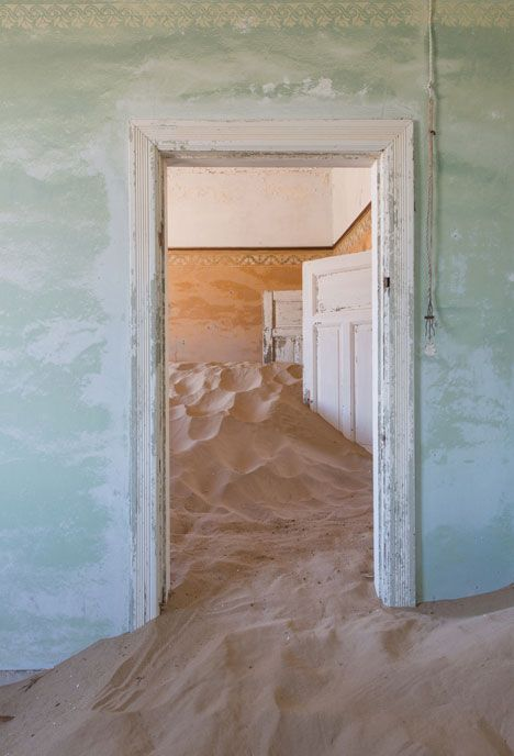 Kolmanskop: Ghost town engulfed by mounds of sand in the Namib desert - photographed by Romain Veillon
