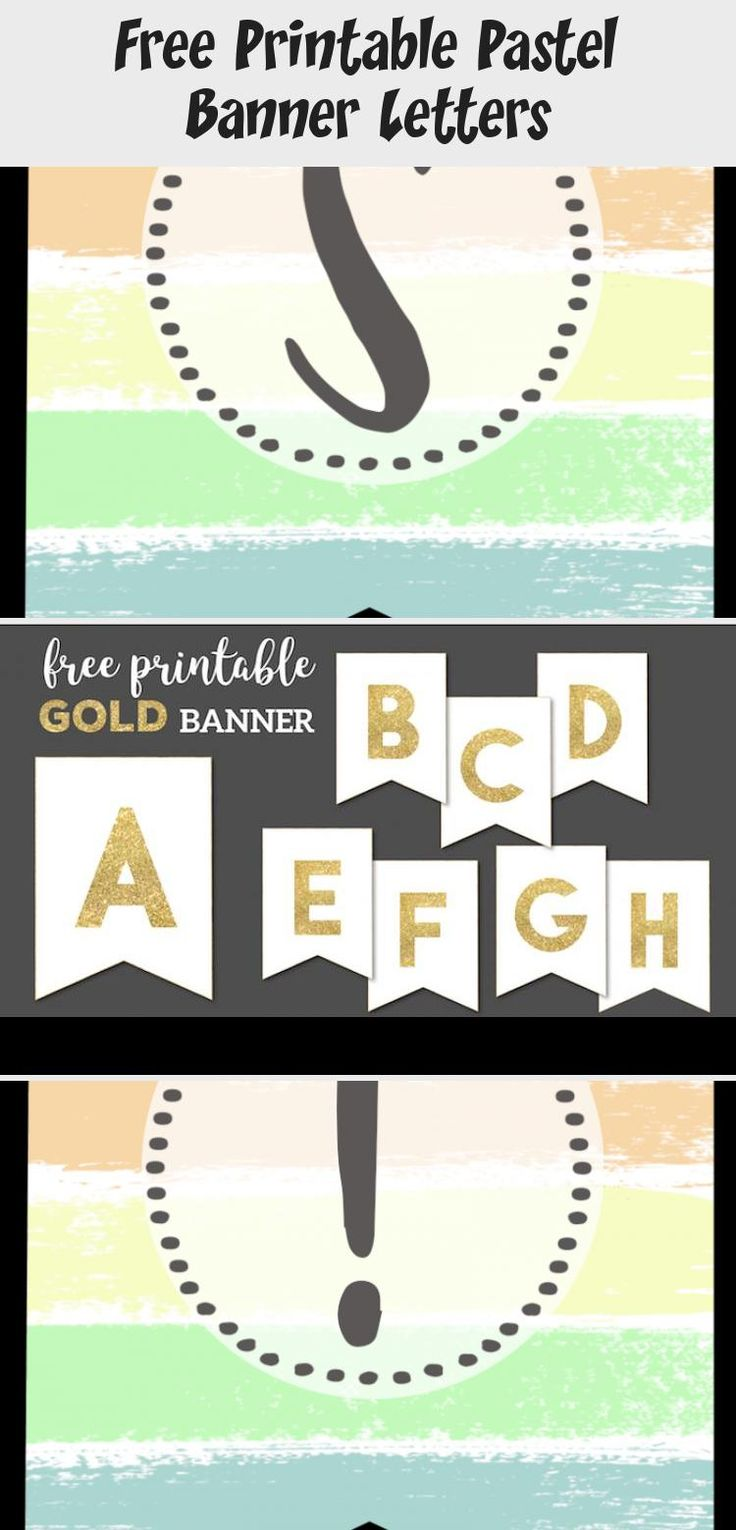 Free Printable Pastel Banner Letters in 2020 (With images ...