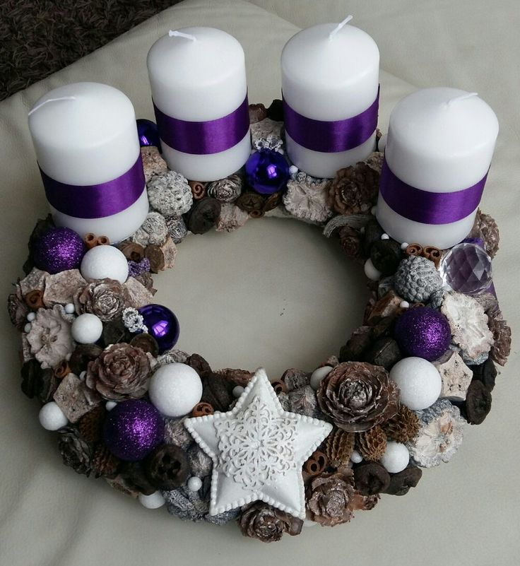 Adventi koszorú (purple/white)