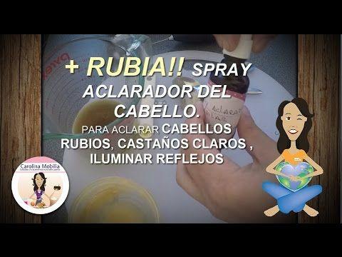 Spray aclarante capilar( ideal cabellos castaños  a rubios)
