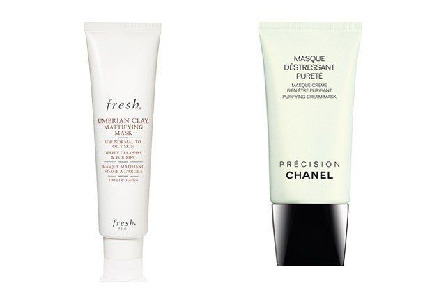 """Have a good spot treatment for emergencies. Drying creams and masks will not completely clear your face but they will help to shrink blemishes. Jean's best over-the-counter suggestion is Umbrian Face Clay from Fresh (the tube, not the bar): """"It really helps most anyone's skin."""" (I've been using it myself for the last couple weeks: my smaller blemishes have disappeared and the bigger ones are less red, less painful, less hard to cover up with foundation.)"""