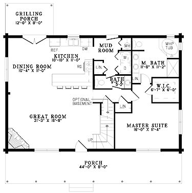 Home Plans HOMEPW19145 - 1,810 Square Feet, 3 Bedroom 2 Bathroom Log Houses Home with maybe win
