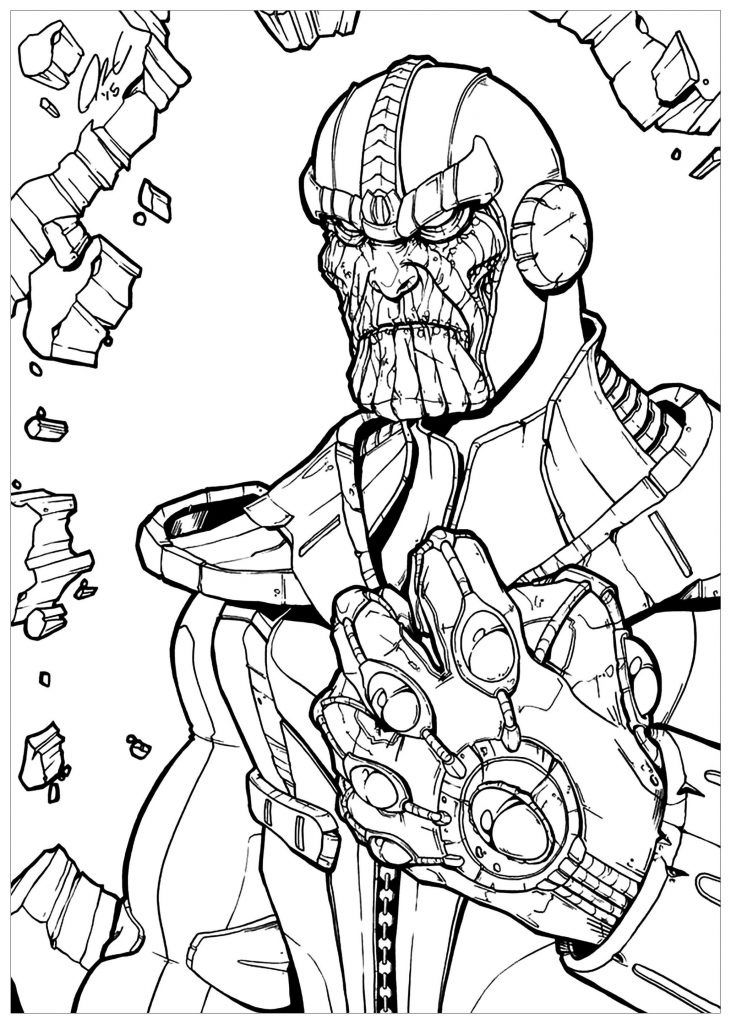 11 Sympathique Coloriage Thanos Stock in 2020 | Avengers ...