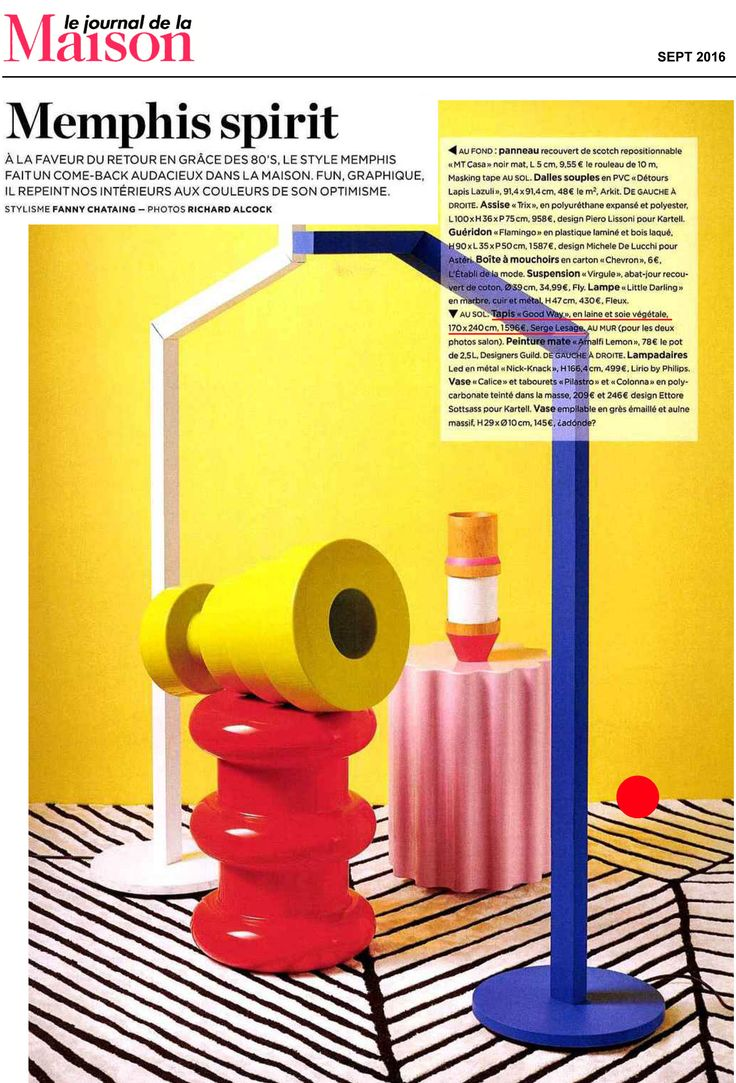 GOOD WAY staged in the last issue of JDLM (Journal De La Maison) Magazine and its Memphis Spirit !