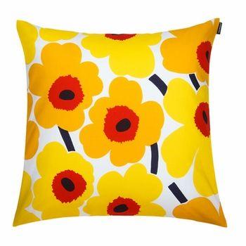 Home Decor Pieni Unikko Pillow Sham In White Yellow Red
