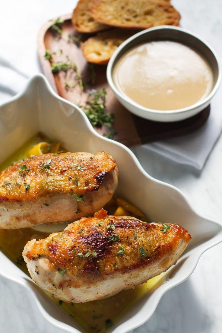 40 Clove Garlic Chicken | http://saltandwind.com
