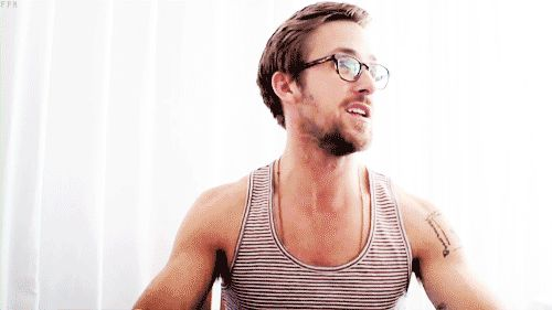 Ryan Gosling, glasses, gif, sexy,