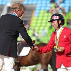 Nick Skelton of Great Britain wins Gold in the Olympic Equestrian Jumping Individual Final