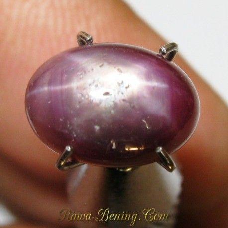 Harga Batu Cincin Star Ruby Elegan 3.50 carat terlihat inklusi dari dekat