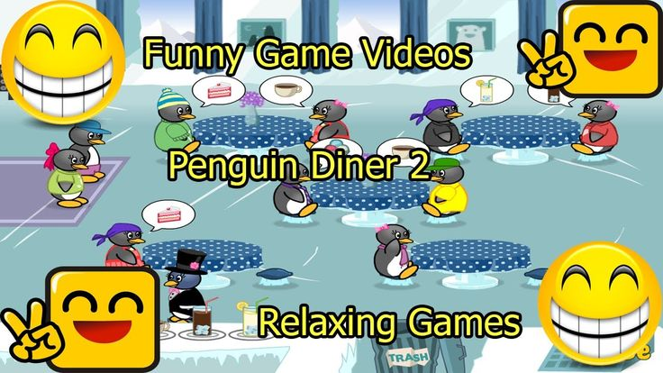 Funny Game Videos | Relaxing Games | Penguin Diner 2 # 10