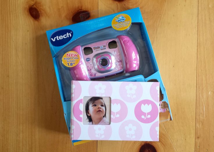 "Elephante Sibling Boutique Big Sister ""Brag Kit"" With Digital Camera. ""The first days of having a new baby are filled with memories. Let the Big Sister or Brother be part of memory capturing with this adorable digital camera! The Photog in me approves!"" - @krcunningham"