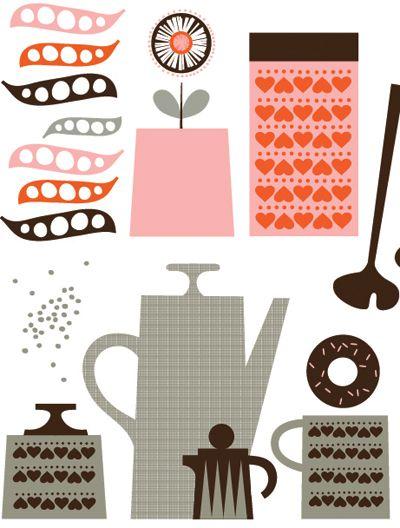 Vintage Kitchen Utensils Illustration 76 best kitchen utensils - illustration images on pinterest