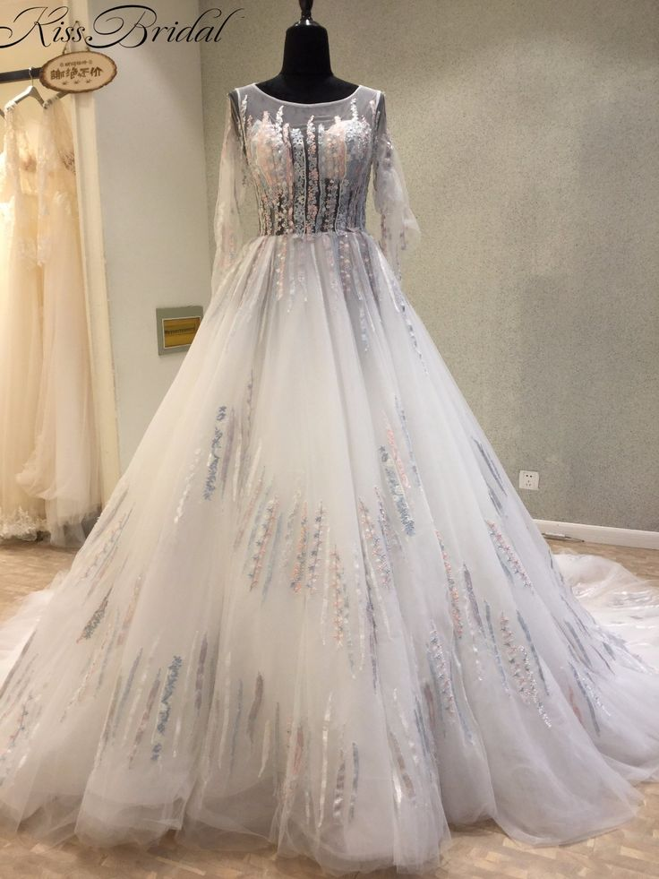 Find More Wedding Dresses Information about Arrival New 2018 Wedding Dress Long Sleeve Tulle White Bridal Gowns Appliqued A line Dress Bride vestidos de noiva ,High Quality vestido de noiva,China de noiva Suppliers, Cheap bridal gown from Kettybridal on Aliexpress.com