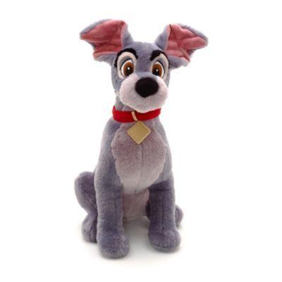 """Från den klassiska Disney-filmen """"Lady och Lufsen"""". Lufsen-gosedjuret är 42 cm,  har fluffigt bröst och mjuk nos, tyghalsband och flaxande öron, och är fylld med cellplastkulor!"""